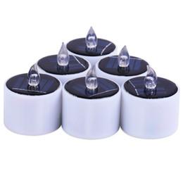 Wholesale Solar Led Light Candle - Solar Power Led Candle Lights Tea Light Candles Home Decoartion And Lighting Christmas Halloween Wedding Decoration Nightlight