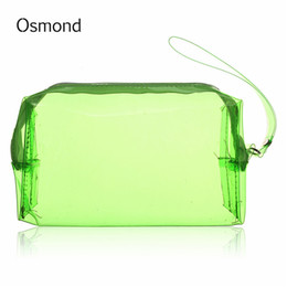 Wholesale Clear Plastic Makeup Bags - Wholesale- Osmond Clear Women Cosmetic Bag Transparent Multi Functional Travel Toiletry Zip Pouch Plastic PP Bag Lady Makeup Organizer Case