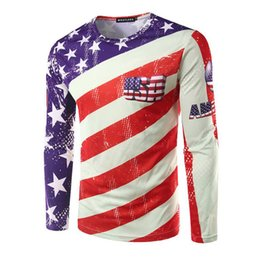 Wholesale Uk Flag T - Wholesale- 2016 Fashion Brand Hip Hop Men'S Casual 3D Printed T Shirt US UK Five-Pointed Star National Flag Cotton Men Clothes T-Shirts