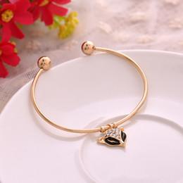 Canada Bracelet à la mode renard bracelet jonc mode féminine ouverture bracelet bracelet en cristal fox jonc bijoux en gros livraison gratuite cheap wholesale fox jewelry Offre