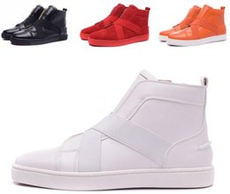 Wholesale British Sneakers - Latest Men Shoe Red Bottom Sneakers Mens Designer Loafers Flats British Comfortable Luxury Brand leather Trainers Leisure Diamonds Casual Sh
