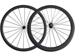 Wholesale Carbon Alloy Wheelset - Mix Carbon Wheels 38+50 MM Road Bike Wheels Powerway R13 Hub Superlite Road Bicycle Wheelset 20 24 Hole Carbon Road Bike Wheels