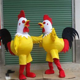 Wholesale Show White Costume - High quality big rooster adult Halloween  Christmas carnival mascot costume fashion show
