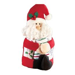 Wholesale Snowman Ornaments Sale - Wholesale- Classic Santa Claus&Snowman Christmas Wine bottle doll Hug the bottle figures cover Xmas home decoration drop ship sale