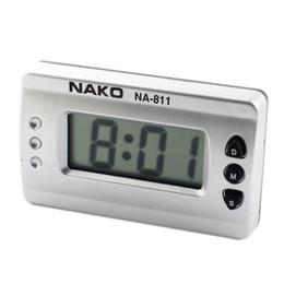 Wholesale Wall Lcd Clock - Wholesale-IMC Hot Car Home Silver Tone Digital LCD Desk Wall Clock