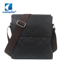 Al por mayor-Nueva llegada Twill Men Bag Brand Messenger Bags Bolsos de diseño de cuero del polo del bolso de los hombres de la cartera de Crossbody de la oficina desde fabricantes