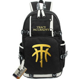 Wholesale Fun Shoots - Tracy McGrady backpack Basketball T-Mac school bag Shooting Guard daypack Fun schoolbag Outdoor rucksack Sport day pack