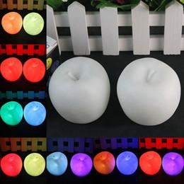 Wholesale Toys Change Shape - Wholesale- Apple shape changing LED luminous ornament Christmas party decoration fun Children's luminous toy