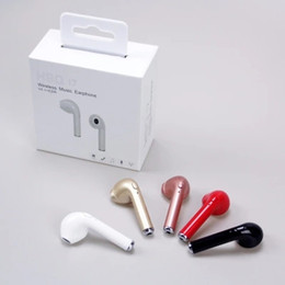 Wholesale Iphone Earplugs - Original HBQ i7 Bluetooth Mini headset 4.1 stereo single ear patent earplug mini wireless android universal