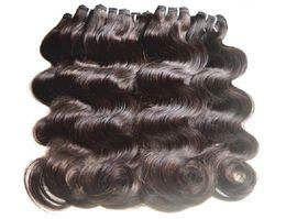 Wholesale Dhgate Brazilian Natural Wave Hair - DHgate Hair Products Unprocessed Brazilian Virgin Hair Extensions Body Wave 7A Grade Mixed 30 Bundles lot 50g pcs Virgin Human Hair Weaves