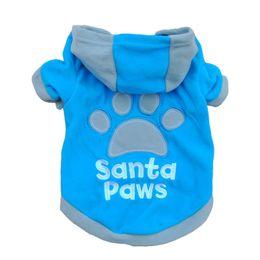 Wholesale Pet Fleece Sweater - Small Pet Dog Cat Sweatshirt Apparel Coat Fleece Clothes Hoodie Sweater XS-L