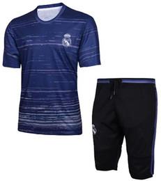 Wholesale Camisetas Futbol Thai Quality - Best thai quality Camisetas de futbol Jerseys real madrid short footabll training jerseys 16 17 18 shorts tracksuit Seven cents pants