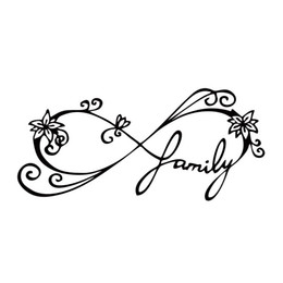 Wholesale Family Stickers For Car Windows - For Infinity Family Decal Car Window Sticker Wall Vinyl Art Funny Car Styling Accessories Decorate Graphics