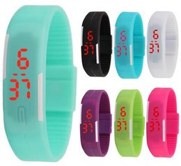 Montres tactiles bon marché en Ligne-Mode hommes garçons écran tactile led montre Sports rectangle étudiants silicone caoutchouc bracelets numérique montres en gros pas cher montre
