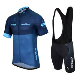 Wholesale Shorts Bike Jersey Cycling Clothing - VACOVE Brand New Pro Team Strava Blue Cycling Clothing Quick-Dry Cycle Clothes Mountain Bicycle Wear Ropa Ciclismo Bike Cycling Jerseys Set