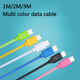 Wholesale Huawei Free Shipping - Color Data Cable 7 colors 1M 2M USB fast Charger Data Cable Sync Mobile Phone For Huawei Samsung iphone Xiaomi free shipping send by DHL