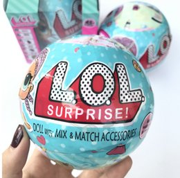 Wholesale Toy Baby Games - LOL Surprise Dolls Unpacking Dolls Dress Up Toys Baby Tear Open Change Egg Dolls spray Kids Gift Single Retail Box