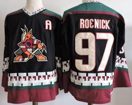 Wholesale Roenick Jersey - 2017 CCM Retro Arizona Coyotes Jerseys 97 Jeremy Roenick ICE Hockey Jersey Black White Embroidery Cheap Wholesale