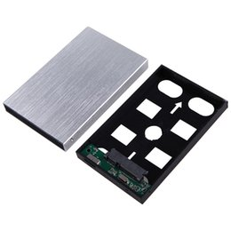 """Wholesale Usb Hard Drive Caddy - Wholesale- USB 3.0 External HDD SDD Enclosure 2.5 Inch SATA Hard Disk Drive Aluminum Caddy Case w  Cable for 2.5"""" Serial ATA HDD SSD"""