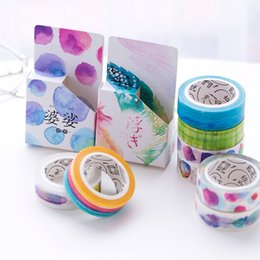 Wholesale Masking Tape Washi - 24 Pcs Lot Colorful Washi Masking Tape Romance Sticker for Diary Frame Decoration Japanese Stationery School Supplies 2016