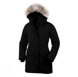Wholesale Down Jacket Sweden - Canada Women down coats Goose Women Expedition Parka Black Sweden Norway women down jacket