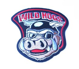 """Wholesale Iron Rider - 4"""" Wild Hogs Motocycle Rider Biker Gang Iron On Vest Jacket Patch Embroidered Patches Badges Fabric Armband Stickers"""