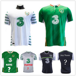 Wholesale Top Men Shirt Shipping - Ireland Soccer Jersey Custom Personalized Team Color Green Away White Customized Football Shirt Uniform Kit Top Quality Free Shipping