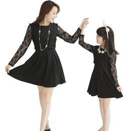 Wholesale Crochet Dresses 5t - 2016 Mother and Daughter Dresses Lace Crochet Mom Daughter Dresses Clothes Summer Women Girls Mini Dress Family Matching Outfits