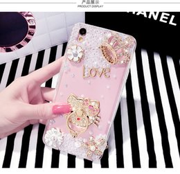Wholesale Iphone Finger Ring Case - Case for galaxy s7 edge luxury Bling Liquid Quicksand Diamond Foil Glitter Hard PC Case For Iphone 7 Plus 6se TPU Finger Ring