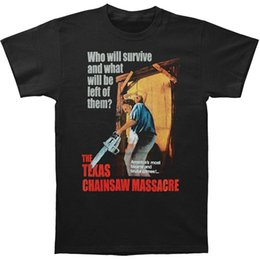 Wholesale Cheap Chainsaws - Texas Chainsaw Massacre -- Bizarre & Brutal Crimes! Adult 2017 new High Quality 100% Cotton men's T Shirt cheap sell Free shipping