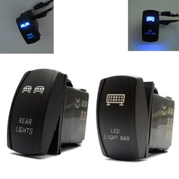 Wholesale Atv Light Switch - Wholesale- 16 UTV ATV for Polaris RZR 1000 Ranger for Blue Rocker Switch LED Light Bar and Rear Light