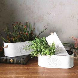 Wholesale Finish French - Set of 3 French Style Galvanized Finish Country Primitive Plant Flower Vase For Wedding Home Decor