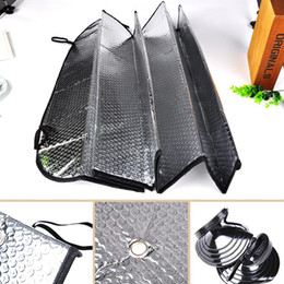 Wholesale Car Rear Window Sunshade - 130 x 60cm Foldable Car Auto Wehicle Front Rear Windshield Sunshade Window Solar Protection with Suction Cup Car Accessories