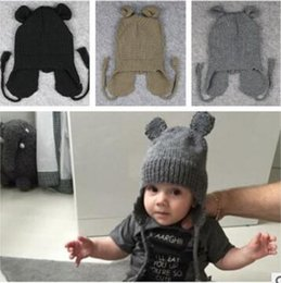 Wholesale Hats Kids Mickey Ear Cap Winter Baby Kids Girl Boy Winter Knitted Wool Hats Caps for Girls Beanies Best Gifts