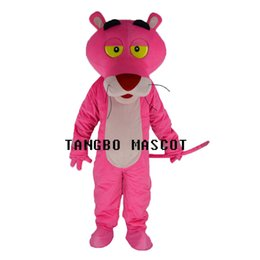 Wholesale Pink Panther Mascot Suit - New pink panther mascot high quality costume fancy dress adult suit party carnival parade free shipping