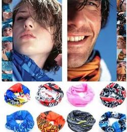 Wholesale biker scarves - Bicycle biker bandanas seamless bandanas washouts Riding mask bicycle cyling scarf cap for men Cycling Bike Magic Sport Headband DHL