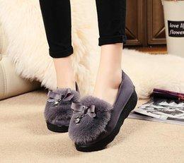 Wholesale Women S Cotton Slips - Autumn and winter new fashion women 's plush shoes plus velvet comfort warm drive cotton shoes flat shoes