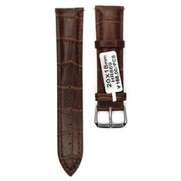 Wholesale 12mm Watch Band - Wholesale-Watch Band 12mm 14mm 16mm 18mm 19mm 20mm 21mm 22mm 24mm Bamboo Dark Coffee Watchband Split Leather Second Genuine Leather Strap