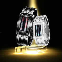 Wholesale Fold Shower - Hot Sale Lover's Couples Wristwatch LED Watch Second-line Meteor Shower Watch For Women Men Couple Watch Top Brand Wristwatches