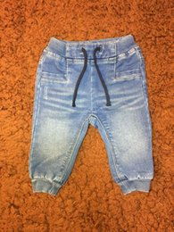 Wholesale Kids Denim Pockets Style - Baby Boys Jeans Pants Spring Autumn Long Pants Soft High Quality Solid Worn Children Kids Clothing