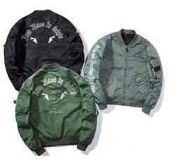Wholesale Men Original Baseball Jacket - Tide card autumn palace ma1 kanye air force pilots jacket male hooded jacket female BF original gentleman baseball clothing