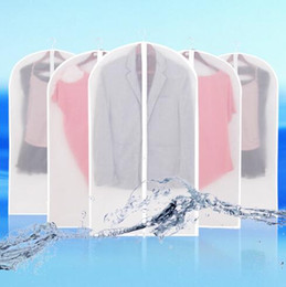Wholesale Hung Jacket - Cloth Dustproof Cover Garment Organizer Suit Dress Jacket Clothes Protector Pouch Travel Storage Bag With Zipper CCA6430 60pcs