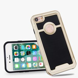 Wholesale iphone 5s cases draw - Wire Drawing Brush Slim Armor Hybrid Rugged Impact PC TPU Case For iPhone X 5 5S SE 5C 6 6S 7 8 Plus Samsung Galaxy S6 S7 Edge S8 Note