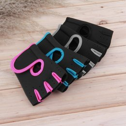 Wholesale Glove For Bodybuilding - Wholesale- Gym Gloves For Fitness Exercise Workout Mittens Training Bicycle Bodybuilding Mitts Men Women Weightlifting Fingerless Gloves