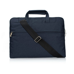 Wholesale Canvas Computer Messenger Bags - Canvas Laptop Bag 11,13,15 Inch Protective Cover Case For Apple MacBook Air Notebook Bag Computer Bags