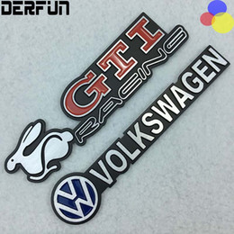 Wholesale Volkswagen Decals - Fit for VW Volkswagen CC Gti Tiguan Golf 6 Mk6 Car Emblem Decal Sticker Side Fender Rear Badge Aluminum Alloy