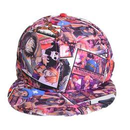 Wholesale Monkey D Luffy Hat - 2017 New One Piece Sabot Baseball Cap Hat Men Women Monkey D Luffy Hip Hop Caps Bone Anime Trafalgar Law Sanj Snapback Hats