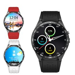 Wholesale Wireless Gps Watches For Kids - KW88 Bluetooth SIM Card GPS Wrist phone Heart Rate Wireless Smart Watch For iphone andorid smartphone