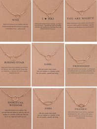 Wholesale Geometric Choker Necklace - Designs Dogeared Necklace With Card Geometric Shape Pendant Noble and Delicate Golden Choker Valentine Day Gift