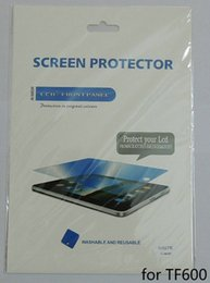 Wholesale Vivo Tab Screen - Wholesale- 5pcs lot Free shipping High Clear Screen Protector film guard for Asus Vivo Tab RT TF600 TF600T with retail pack